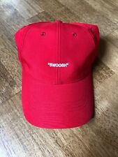 """New Nike Off Campus Hat, Off White """"SWOOSH"""", Legacy 91 Dri Fit Red Cap"""