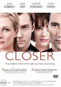 Closer (DVD Region 4) Julia Roberts, Jude Law, Natalie Portman, Clive Owen