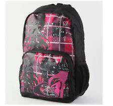 WOMEN'S GIRLS ROXY CLEAR SIGHT BACKPACK PINK BLACK LOGO SCHOOL BAG NEW $55