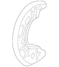 Genuine Ford Splash Shield 3L2Z-1214-AA