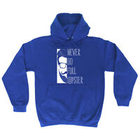 Funny Novelty Hoodie Hoody hooded Top - Never Go Full Hipster