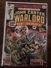 John Carter Warlord of Mars #1 (Marvel 1977) Marv Wolfman Dave Cockrum