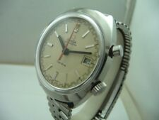 OMEGA CHRONOSTOP VINTAGE STEEL WATCH - RARE RACING DIAL TOP CONDITIONS 70'S