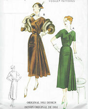 1951 Vintage VOGUE Sewing Pattern DRESS B38-40-42-44-46 (R796)