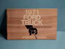 71 1971 Ford 800-900/8000-9000 Series Truck owners manual