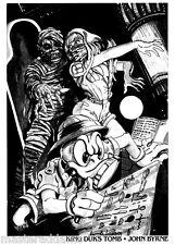 HOWARD The DUCK - KING DUK'S TOMB Pin Up Poster Marvel John Byrne art