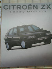 Early Citroen ZX Diesel Brochure 1992 Reflex Avantage Aura Volcane
