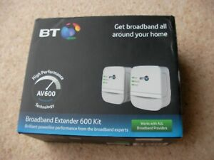 BT Broadband Extender 600 Kit Powerline - Boxed All Complete Excellent Condition