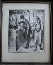 "Honore Daumier ""Ami de Personne"" Original Lithograph w/COA"