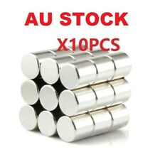 AU Stock X10 Neodymium Disc 10X10mm Rare Earth N50 Strong Magnets Craft Models