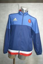 BLOUSON VESTE ADIDAS EQUIPE DE FRANCE RUGBY TAILLE L JACKET/CHAQUETA/GIACCA NEUF