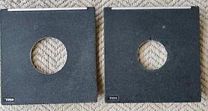 2 Genuine Toyo lens boards Copal 0 & Copal 1 45A 45AR 45AX 45AII, 23G 45 110mm