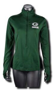 Nike Womens Green Bay Packers Champ Pro Hyperwarm Half-Zip Jacket 803748-323