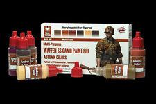 Andrea Miniatures Andrea Color Waffen SS Camo Paint Set (Autumn Colors) #ACS-016