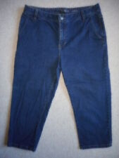 "Womens Jeans-LIZ CLAIBORNE-blue stretch denim ""Slim"" cropped-12"