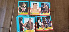 1987 TOPPS WWF WRESTLEMANIA 75 CARD SET BRETT HART ROOKIE ANDRE HULK MACHO MAN