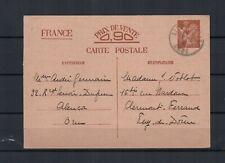 FRANCE Entier Postal 654S.V.-CP2 - type IRIS sans valeur oblitération ALENCON
