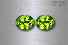 11x9 MM EXQUISITE BEST AAA GREEN PERIDOT 100% NATURAL PAKISTAN!! MATCHING PAIR