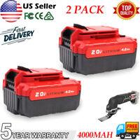 2PCS For PORTER CABLE PCC685L PCC740B 20Volt Max Lithium-Ion 20V 4.0Ah Battery