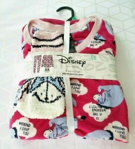NEW Disney Eeyore Ladies Womens Sleepwear 3 Piece PJ Pajama Sleep Set   XL 16-18
