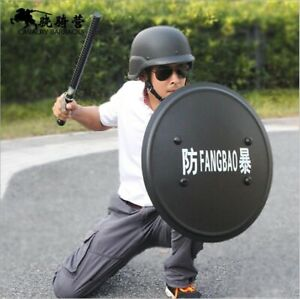 Hand- Held Shield Aluminium Alloy Anti Riot Prevention Security Patrol Tactical