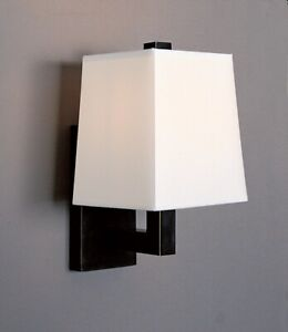 Robert Abbey Doughnut 111X Modern Wall Sconces w/Fabric Shade