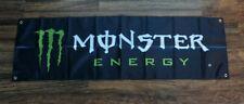New Monster Energy Drink Banner Flag 1.5 x 5 Black Store Promotional Advertising
