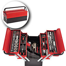 86 Piece Tool Box Tool Set in Red Metal Box Fully Loaded Professional Wrenches