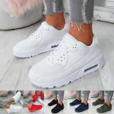 WOMENS LADIES SPORT TRAINERS WEDGE HEEL SNEAKERS LACE UP RUNNING GYM SHOES
