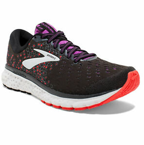 Brooks Glycerin 17 Running Shoes - Black/Coral/Purple - 120283 1B 0059 - Sz: 6 B