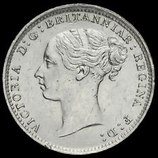 More details for 1886 queen victoria young head silver threepence, unc