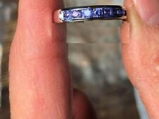 Yogo Sapphire color change .80tcw 14kt white gold ring