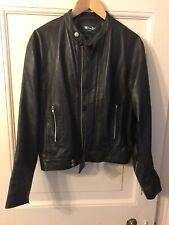"BMW Mini / Cooper Leather Jacket - Black Biker Style 40"" Chest"