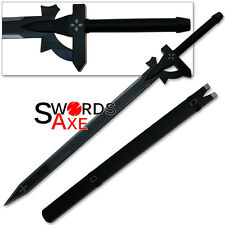 SAO Elucidator Sword Art Online Kirito Carbon Steel Replica Anime Wood Scabbard