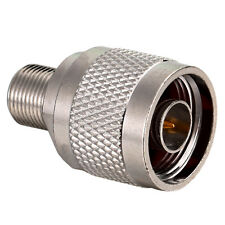 N-Type N Male Plug to F Female Jack RF Coaxial Adapter Connector LS4G