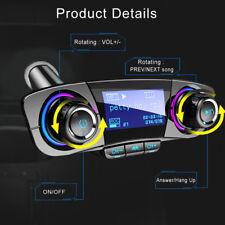 FM Transmitter Aux Modulator True Wireless Handsfree Car Kit Audio MP3 Player