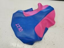 Suzuki lt 80 LT80 seat cover pink SIDES & blue TOP with logo FITS ALL YEARS