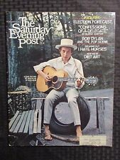 1968 THE SATURDAY EVENING POST Magazine Nov. 2 FVF Bob Dylan