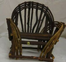 Wooden twig 8x8in rustic chair decorative small doll or teddy bear display