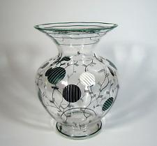 Art Déco Glas Vase Emailbemalung Stil Josef Hoffmann Wien Austria ca 1925