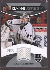 JONATHAN BERNIER 2012-13 UPPER DECK UD GAME USED WORN JERSEY PATCH LA KINGS $15