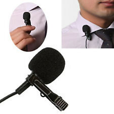 Premium Cardioid Lapel Lavalier Microphone Tie Clip On Mic Hands Free 3.5mm VOIP