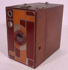 Art Deco! KODAK No 2A BEAU BROWNIE BOX CAMERA ~ Brown & Tan ~ Estate Fresh!!!