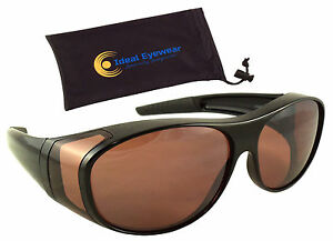 Blue Blocker Blocking Fit Over Sunglasses Wear Over Glasses Driving Mens Womens
