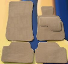 BMW E64 6 SERIES CONVERTIBLE 2004 - 2012 TUFTED BEIGE CAR MATS WITH 4 x PADS B