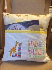 Book Cushion Embroidered Personalised Cushion for young child book Cushion
