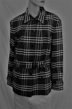 Jones New York Signature Women's snap button plaids&checks cotton jacket XXL