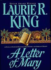 A Letter of Mary  Laurie R. King SIGNED First Edition Mary Russell Novel