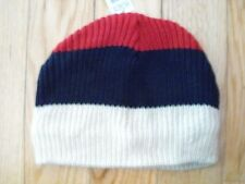 The Children's Place Boys Striped Hat Size 7-8 Red Navy White 50% Off NWT New