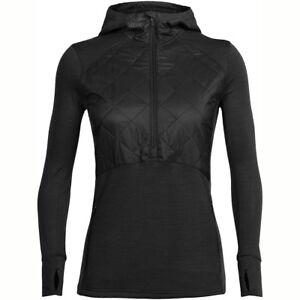 Size L - Icebreaker Women's Ellipse L S Hood Black, Large